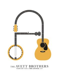 The Avett Brothers poster. A lot of negative space but a lot to look at definitely awesome