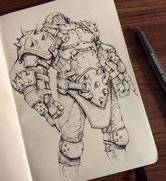 Demon Drawings, Dark Art Drawings, Fantasy Character Design, Character Design Inspiration, Sketchbook Inspiration, Art Sketchbook, Monster Sketch, Dark Souls Art, Concept Art Tutorial