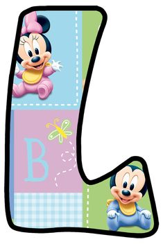 Daisy Duck, Minnie Mouse First Birthday, Baby Letters, Monogram Alphabet, Tricks, Peace And Love, First Birthdays, Paper Crafts, Templates