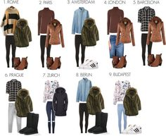 Backpack Europe in Winter - Packing List and Travel Outfits!