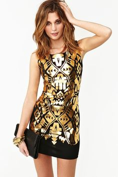 Golden Touch Summer Sleeved Dress