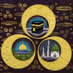 Cahide Keskiner Atölyesi Arabian Art, Islamic Paintings, Islamic Wall Art, Turkish Art, Islamic Images, Islamic Calligraphy, Sufi, Wall Prints, Cute Wallpapers