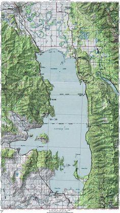 Flathead Lake Map
