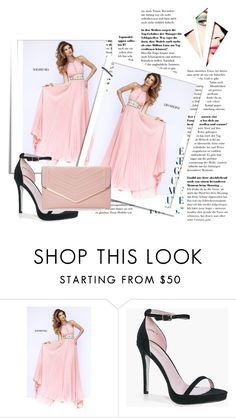 """Long Peach Sherri Hill 11251 Pleated Skirt Homecoming Dress"" by rixepisyzavo ❤ liked on Polyvore featuring Sherri Hill, Boohoo, Sasha, dress and Homecoming"