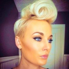 Single Roll Pin Up Hairstyles