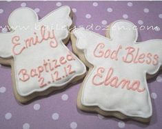 This item is unavailable Communion Party Favors, Baptism Favors, Baptism Ideas, Christening Cookies, Baby Girl Christening, Cookie Favors, Cookie Gifts, Angel Cookies, Sugar Cookies