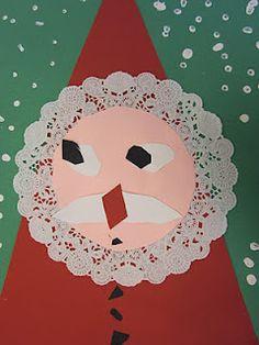 In the Art Room - Geometric Santas