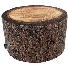 Forest Heavyweight Pouf - tree stump seat - MeroWings