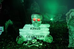 I have my Kings Cemetery sign a nice big skull. :)