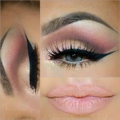 """""""Hi gorgeous , tonight have this soft easy look for Valentines Day hope u like it video tutorial is next  Deets : @motivescosmetics products -Eye shadow…"""""""