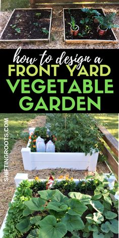 Lawn and Garden Tools Basics Looking For The Next Cool Front Yard Landscaping Ideas? What about A Front Yard Vegetable Garden? Here's How I Turned My Yard With No Curb Appeal Into A Low Maintenance Raised Bed Garden. It's A Simple Design For A Small Space Raised Vegetable Gardens, Vegetable Garden Design, Raised Garden Beds, Raised Beds, Vegetable Gardening, Small Front Yard Vegetable Garden Ideas, Container Gardening, Vegetable Ideas, Vegetables Garden