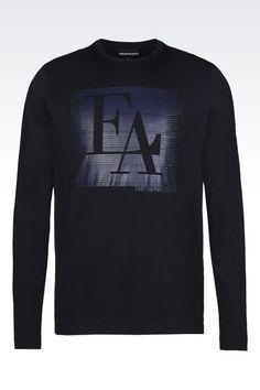 245821150e92 Emporio Armani Men Long Sleeve t Shirt - T SHIRT IN PIMA COTTON JERSEY Emporio  Armani