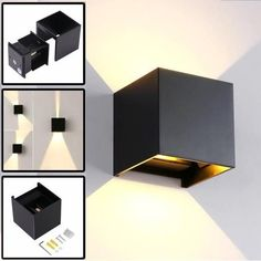 Black LED Modern Wall Light with Adjustable Beam Angle Design, Waterproof Led Wall Lamp Use For Outdoor / Indoor, Warm White Light Indoor Wall Lights, Modern Wall Lights, Led Wall Lights, Modern Lighting, Ceiling Lights, Exterior House Lights, Exterior Wall Light, Led Wall Lamp, Wall Sconces
