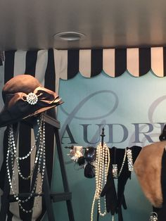 Add a black and white scalloped store front awning and you are at Tiffany's buying crystal, china and before you know it you are looking at jewelry!