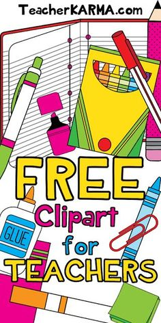 268 best free clip art images on pinterest in 2018 educational rh pinterest com royalty free clipart school supplies School Supplies Clip Art Free Download