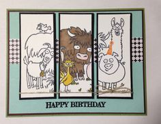 Birthday Card made with Stampin' Up SS From the Herd