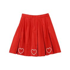 PLEATS SKIRT (2.320 ARS) ❤ liked on Polyvore featuring skirts, bottoms, clothing - skirts, pleated skirt, puffy skirts, red puffy skirt, red knee length skirt and puff skirt