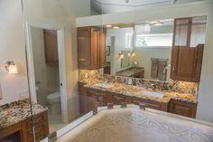 View out from inside shower. Bath design & remodeling by Danilo Nesovic, Designer · Builder (dndb.info)