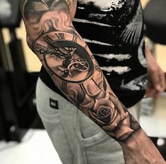 Most Preferred Male Tattoo Models in 2019 - Tattoos For Men: Best Men Tatto. - Most Preferred Male Tattoo Models in 2019 – Tattoos For Men: Best Men Tattoo Models - Tattoo Dotwork, Forarm Tattoos, Forearm Sleeve Tattoos, Best Sleeve Tattoos, Tattoo Sleeve Designs, Tattoo Designs Men, Arm Band Tattoo, Clock Tattoo Sleeve, Clock And Rose Tattoo