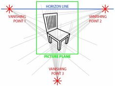 2 Point Perspective Drawing | drawing chair two point perspective image search results
