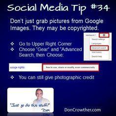 Social Media Tip for using photos from Google #Socialmediatips