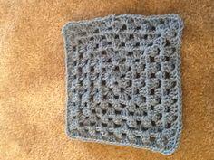 Blueish granny square