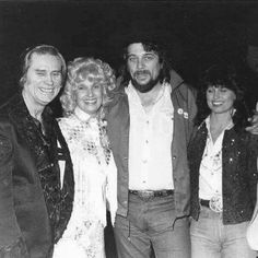 George Jones, Tammy Wynette, Waylon Jennings, and Jessi Colter. Country Music Stars, Best Country Singers, Best Country Music, Country Musicians, Country Music Artists, George Jones, Jessi Colter, Legendary Singers, Famous Singers