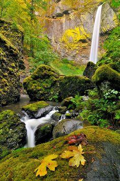 Stunning Elowah Falls, Columbia River Gorge, Oregon, USA