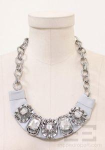 Adia Kibur Grey Glass Stones & Crystals Necklace