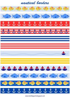 FREE printable nautical planner border stickers