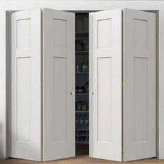 Revamp closet doors in this style. Wardrobe Doors, Built In Wardrobe, Closet Doors, Tall Cabinet Storage, Locker Storage, Door Design, House Design, Armoire, Room Divider Doors