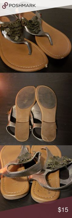 73fd07e7daf230 Bohemian Sandles Bronze golden sandles with coins in good condition. Some  wear on the sandles but they have alot of life left in them!