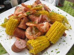 Low-country boil, yummy !!