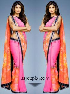 Shilpa shetty saree