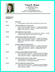 dance resume can be used for both novice and professional dancer most job of dancer - Dance Resume Example