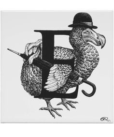 Extinct English Gentleman Letter E Tile, Rory Dobner. Shop more from the Rory Dobner collection online at Liberty.co.uk
