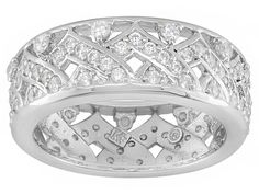 Remy Rotenier For Bella Luce (R) 1.74ctw Rhodium Plated Sterling Silver Ceylon Band Ring