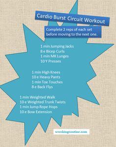 Cardio Burst Circuit Workout