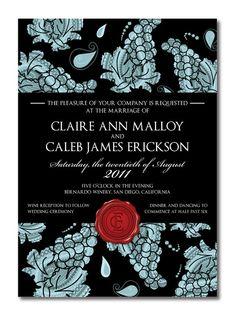 wine label invitation