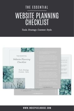 Most folks plan for a website… but many of those don't plan for a website that works to meet their goals.   Prepare yourself with The Essential Website Planning Checklist.