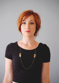 Arrow Necklace2  Picture Jasper Triangle Modern by barkdecor, $32.00