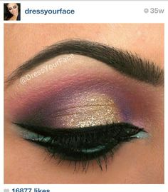I got this pic from #dressyourface. She does great makeup. I didn't know how to link my Instagram to pintrest.