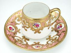 Old Noritake with gold gilt and moriage <3