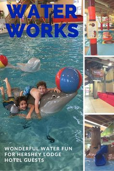 The Hershey Lodge indoor pool is unlike any other hotel pool. View our details, pictures, and video about Hershey Lodge Water Works before your next visit.