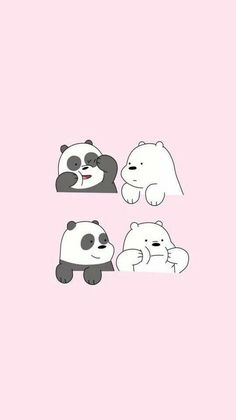 We Bare Bears who is your favourite bear? mine is Ice Bear🙆 We Bare Bears Wallpapers, Panda Wallpapers, Cute Cartoon Wallpapers, Moving Wallpapers, Cute Panda Wallpaper, Bear Wallpaper, Kawaii Wallpaper, Screen Wallpaper, Pinky Wallpaper