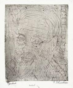 """ernstludwigkirchner: """" Kopf Jakob Bosshart (1921) """""""