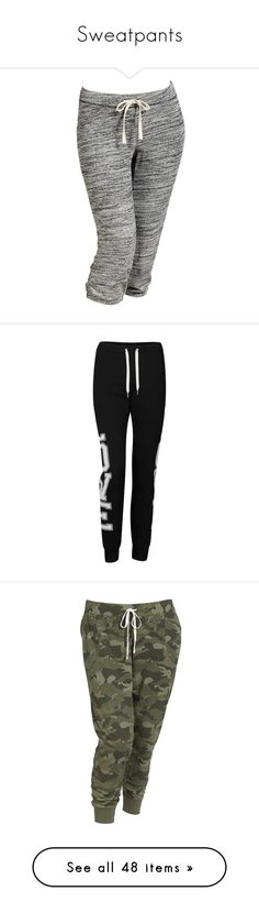 """""""Sweatpants"""" by nkotbsbaby1 ❤ liked on Polyvore featuring activewear, activewear pants, pants, bottoms, sweatpants, jeans, pajamas, women, sweat pants and skinny leg sweatpants"""