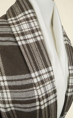 Versatile and easy-to-handle ivory and chocolate checked wool mix fabric with an excellent hand. Perfect for suits, separates and lighter-weight coats. Separates, Lighter, Flannel, Ivory, Handle, Coats, Wool, Chocolate, Easy