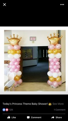 Princess Balloons, Princess Theme, Princess Birthday, Birthday Venues, 1st Birthday Parties, 2nd Birthday, Baby Shower Themes, First Birthdays, Showers