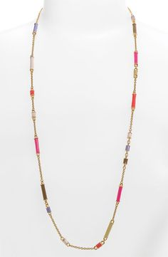 kate spade new york 'bar none' long station necklace $98